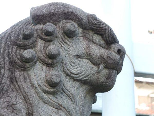 甲府市・金山神社の狛犬