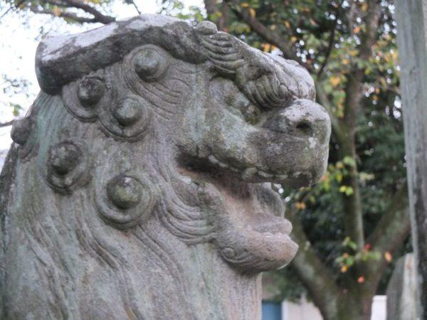 山梨市・黒戸奈神社の甲斐狛犬