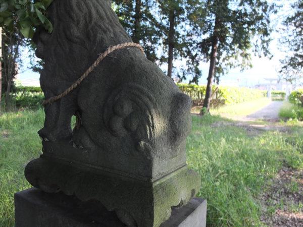 神明神社(甲府市上阿原町)の狛犬