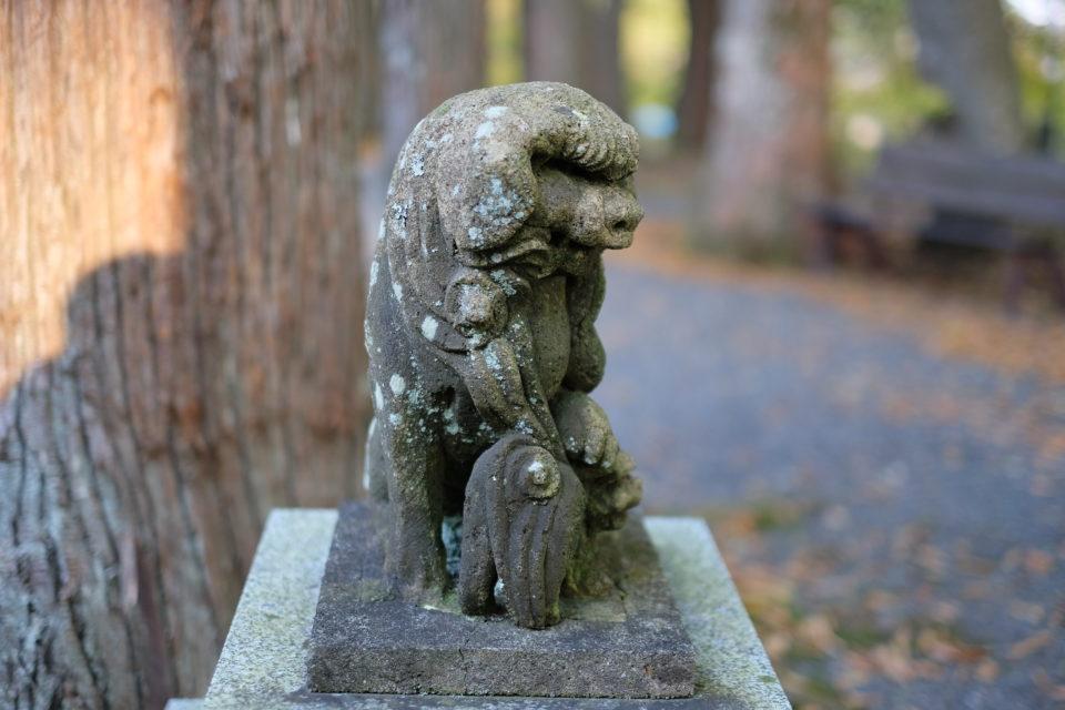 山梨県山中湖村 山中浅間神社の狛犬