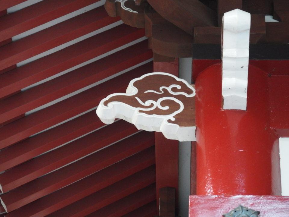 山中諏訪神社 獏の木鼻
