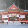 金櫻神社への初詣・笑う大黒天と杉の大木