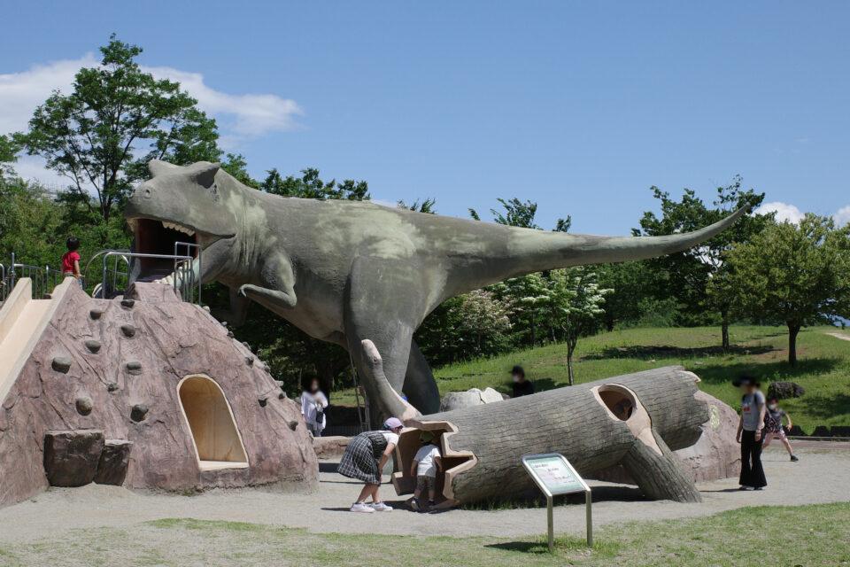 双葉水辺公園 恐竜 ティラノザウルス ふたばちゃん