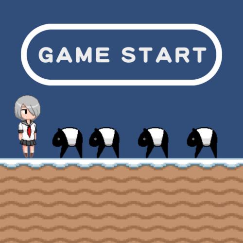 ゲーム制作の練習用に作った簡単なアクションゲーム「せみこ対バク」