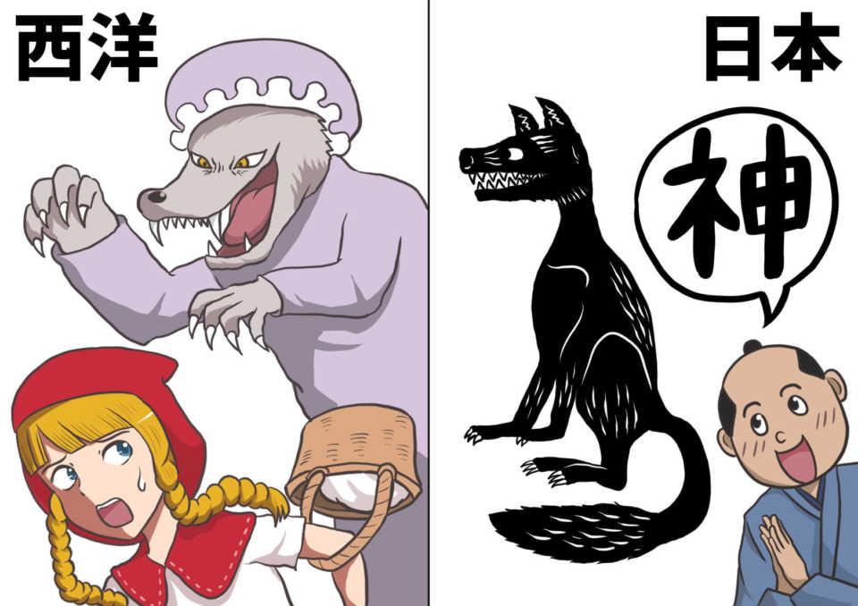 日本人とオオカミ 中国・ヨーロッパと日本の違い 赤ずきんちゃん